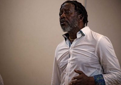 Clarke Peters talking